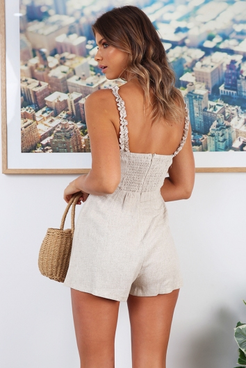 Day Dreams Playsuit - Beige