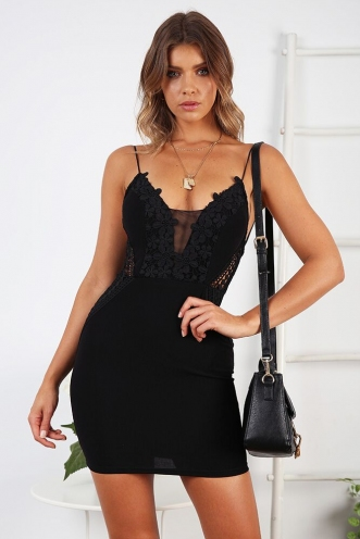Pick Up Line Dress - Black