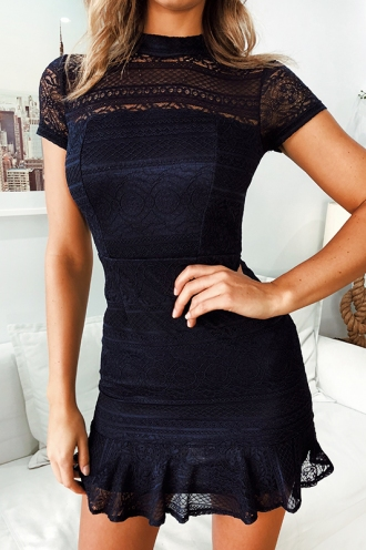 Tilly Love Dress- Navy Lace