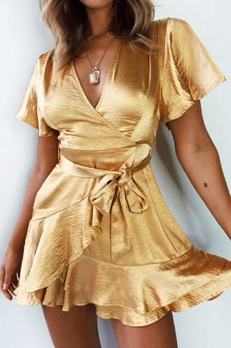 We Own The Night Dress- Gold
