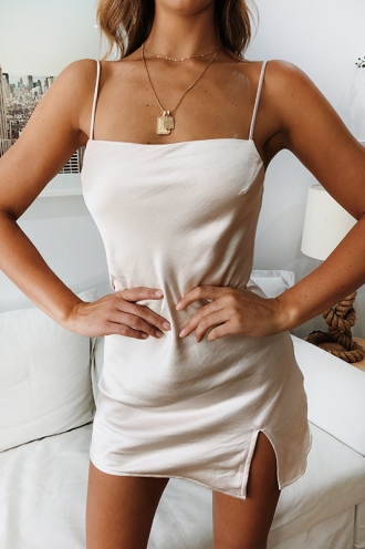 Empty Glasses Dress - Champagne