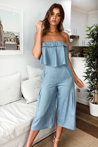 The Look of Love Jumpsuit - Blue