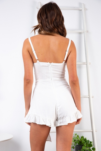 Connie Playsuit - White