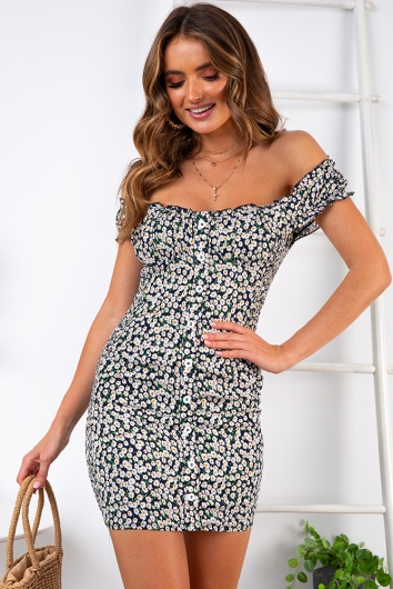 In The Summer Dress - Navy Floral