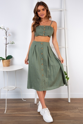 Market Day Skirt - Khaki