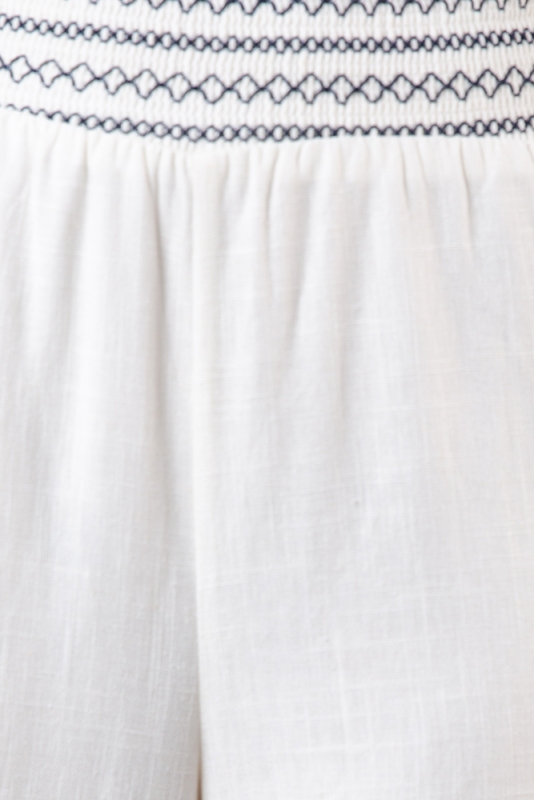 Riptide Pants Whitenavy Embroidery Stelly