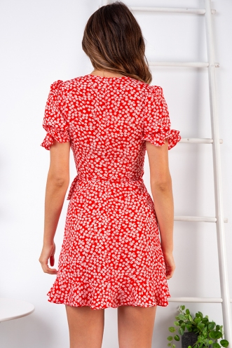 Melissa Dress - Red Floral