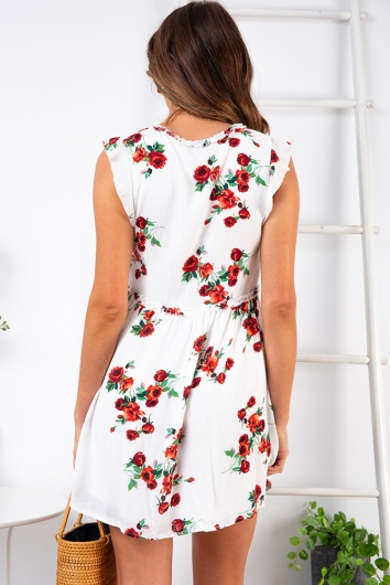 Lost Paradise Dress - White Rose