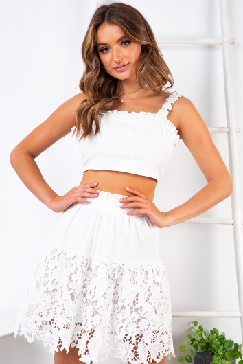 Neighbourhood Girl Skirt - White