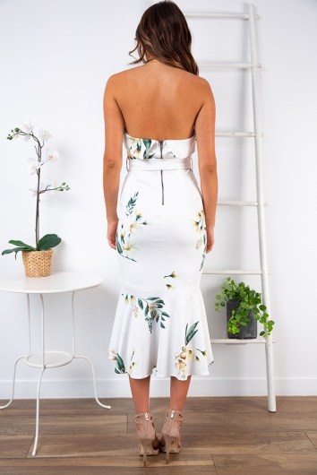 Love Affair Dress- White Floral