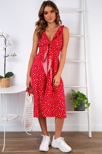 Francessca Dress - Red Print