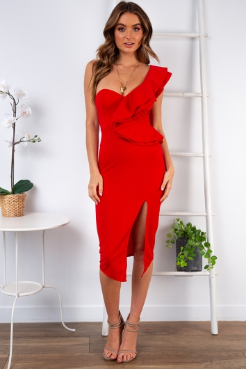 Close To Me Dress - Red