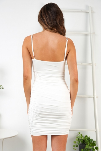 Glenda Dress - White