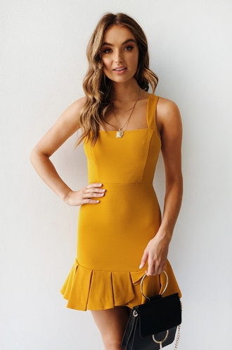 Damn Loyal Dress - Mustard