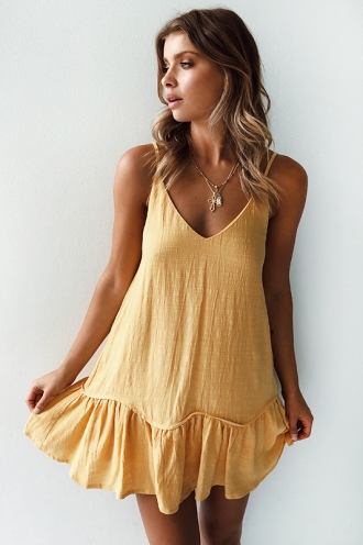 Sea Shore Dress - Yellow