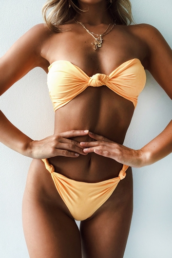 On Weekend Time Bikini Bottoms - Mustard