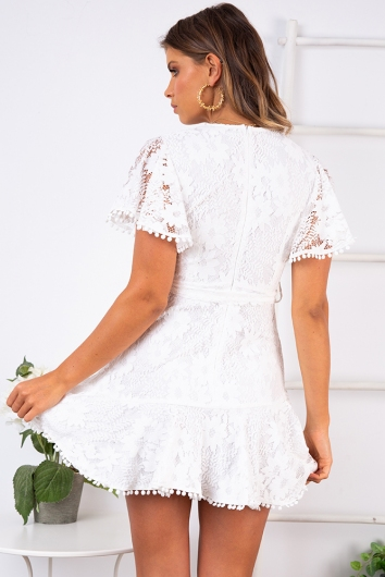Fine Dining Dress - White