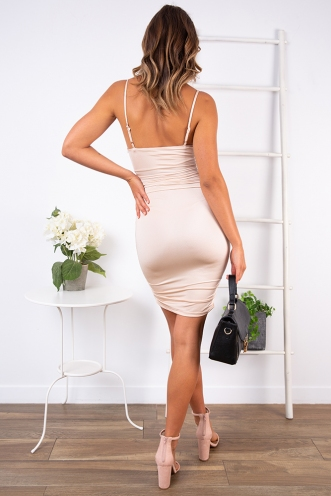 Harlow Dress - Nude