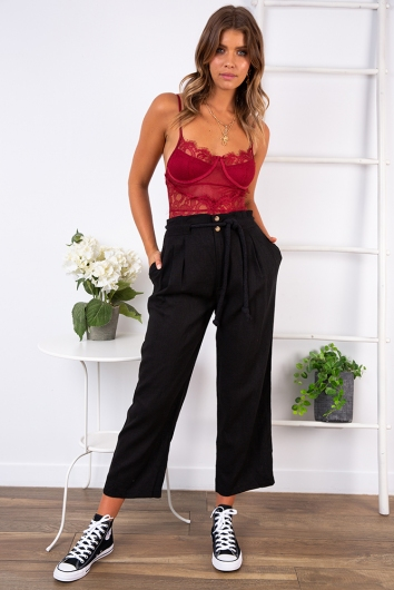 Lounge All Day Bodysuit - Maroon