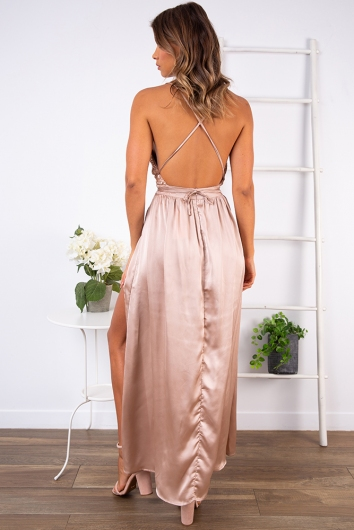 Wont Let you Fall Dress - Champagne Sequin