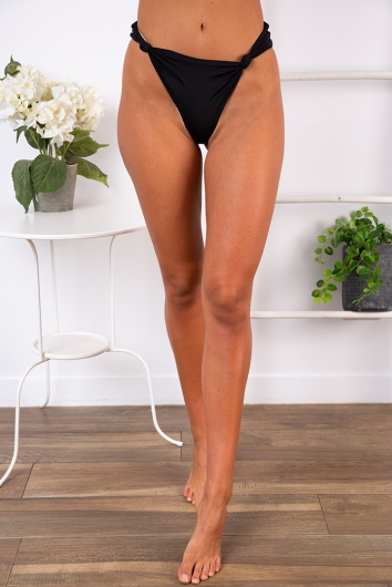 On Weekend Time Bikini Bottoms - Black