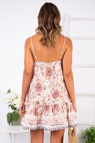 Bobbi Dress - Pink Print