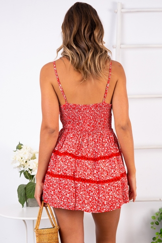 Teenage Dirtbag Playsuit - Red Print