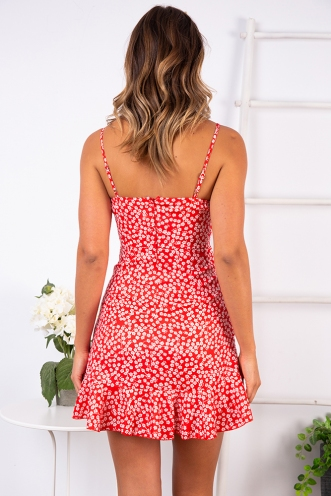 Applebloom Dress - Red Print