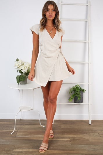 In The Sticks Dress - Beige