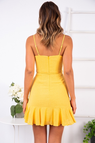 Never Let Go Dress - Yellow