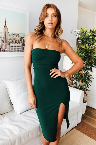 Night Sky Dress - Forest Green