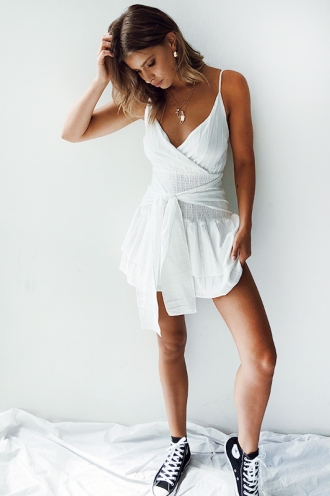 Rise and Shine Dress - White