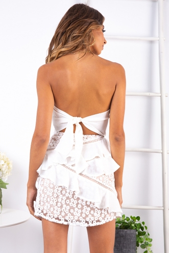 Lilly Pilly Dress - White/Beige