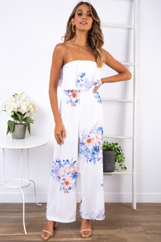 Dundee Cake Jumpsuit - White Print