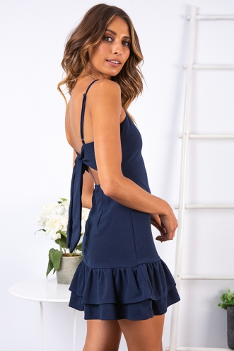 Come With Me Dress - Navy