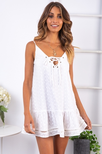 Navia Dress - White
