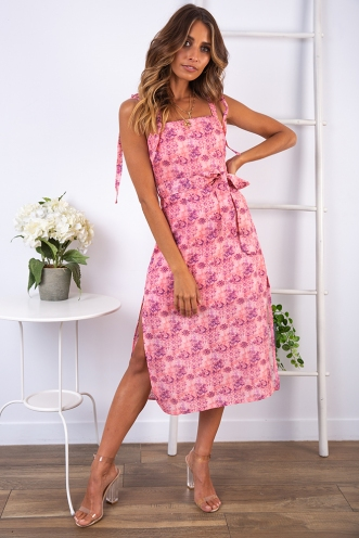 Spice of Life Dress - Pink Print