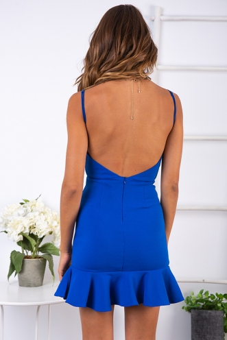 Kaity Dress - Cobalt Blue