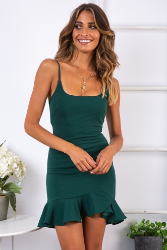 Daybreak Dress - Forest Green