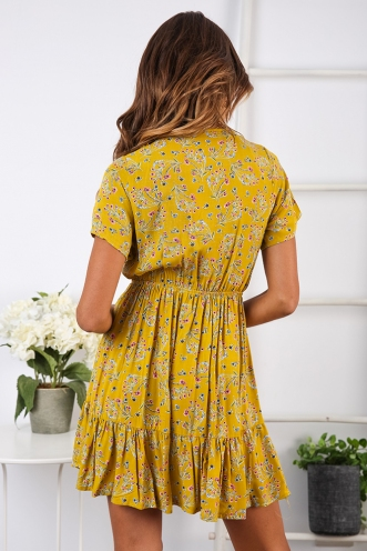 In the Wild Dress - Yellow Print
