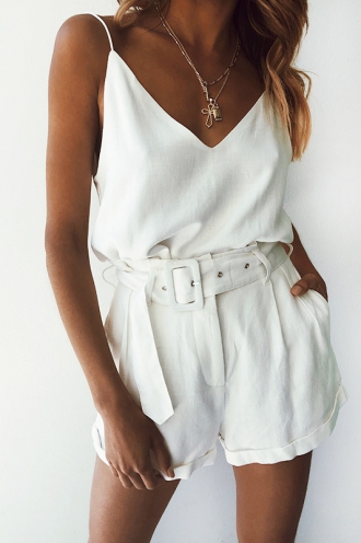 Cabo Cruise Top - White