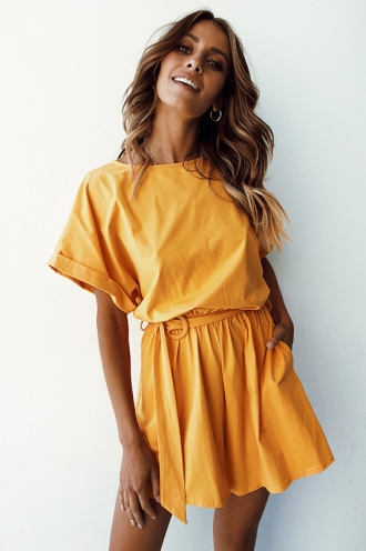 Aimee Playsuit - Mustard