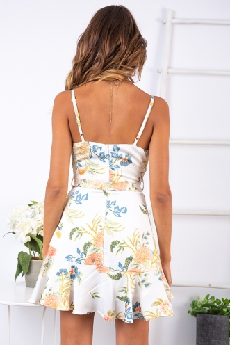 One Night Dress - White Floral