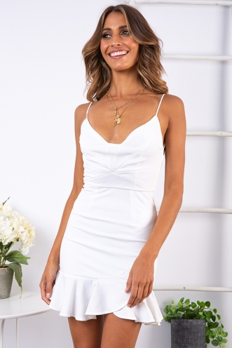Kaity Dress - White