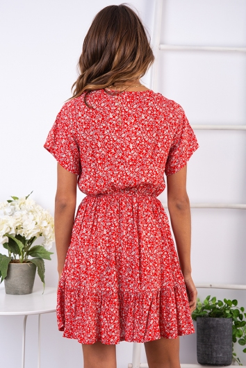 In the Wild Dress - Red Print