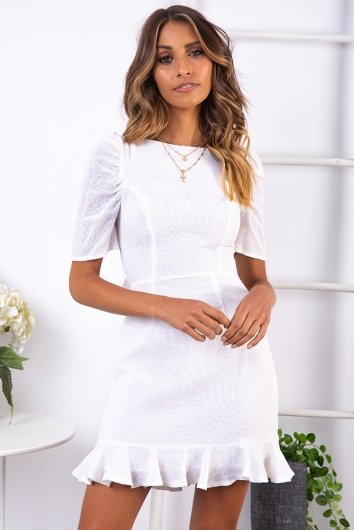Fast Moving Dress - White