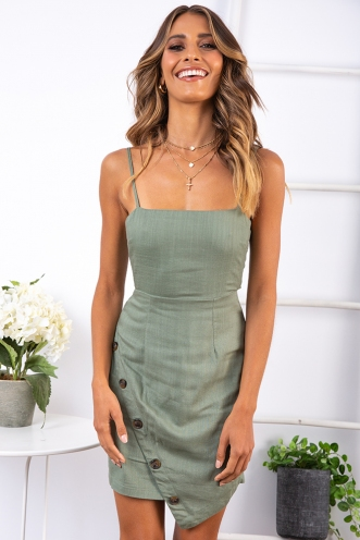 Sweet Threads Dress - Khaki