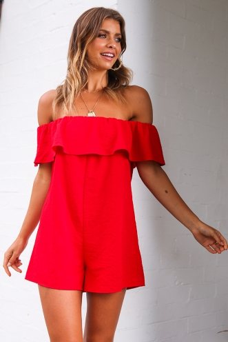 Little Red Riding Playsuit