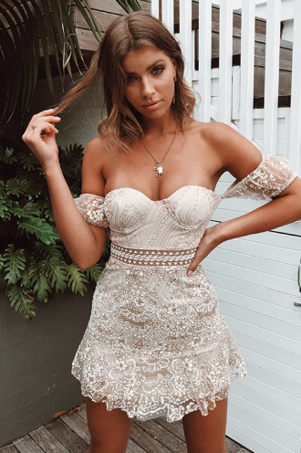 Krystal Dress - Champagne Sparkle
