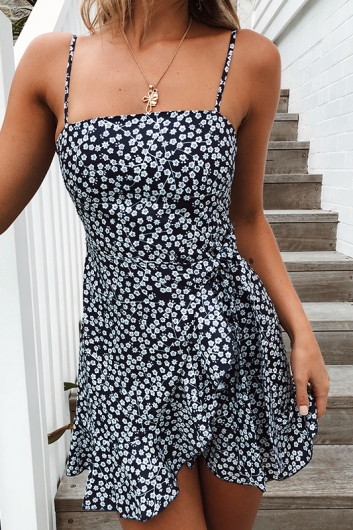 Applebloom Dress - Navy Print